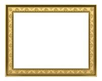 Χρυσό πλαίσιο - τρισδιάστατη απόδοση Στοκ Φωτογραφίες