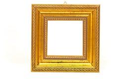 Χρυσό πλαίσιο barouque που απομονώνεται στο λευκό Στοκ Εικόνα