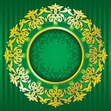 χρυσό πλούσιο διάνυσμα δ&io Στοκ εικόνα με δικαίωμα ελεύθερης χρήσης