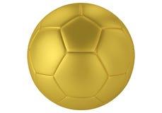χρυσό ποδόσφαιρο σφαιρών τρισδιάστατη απόδοση της σφαίρας ποδοσφαίρου στο ματ χρυσό χρώμα ελεύθερη απεικόνιση δικαιώματος