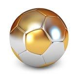 χρυσό ποδόσφαιρο σφαιρών Στοκ Εικόνες
