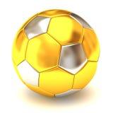 χρυσό ποδόσφαιρο σφαιρών Στοκ εικόνες με δικαίωμα ελεύθερης χρήσης
