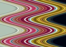 Χρυσό πράσινο ρόδινο γκρίζο υπόβαθρο γραμμών, λαμπιρίζοντας λασπώδες κέρινο χρώμα, υπόβαθρο μορφών αντίθεσης στα χρώματα κρητιδογ Στοκ εικόνα με δικαίωμα ελεύθερης χρήσης
