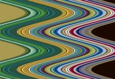 Χρυσό πράσινο ρόδινο ιώδες πορτοκαλί υπόβαθρο γραμμών, λαμπιρίζοντας λασπώδες κέρινο χρώμα, υπόβαθρο μορφών αντίθεσης στα χρώματα Στοκ εικόνες με δικαίωμα ελεύθερης χρήσης
