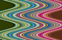 Χρυσό πράσινο ρόδινο πορτοκαλί μπλε υπόβαθρο γραμμών, λαμπιρίζοντας λασπώδες κέρινο χρώμα, υπόβαθρο μορφών αντίθεσης στα χρώματα  Στοκ Φωτογραφία