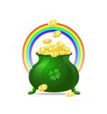χρυσό πράσινο iitn νομισμάτων κ& Στοκ Εικόνα