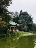 Χρυσό προαύλιο πάρκων πυλών στοκ εικόνα με δικαίωμα ελεύθερης χρήσης