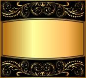 χρυσό πρότυπο απεικόνισης Στοκ Φωτογραφία