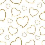 χρυσό πρότυπο καρδιών ελεύθερη απεικόνιση δικαιώματος
