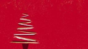 Χρυσό πρότυπο καρτών βουρτσών χρωμάτων Χριστουγέννων απεικόνιση αποθεμάτων
