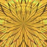 Χρυσό πρότυπο λουλουδιών Στοκ φωτογραφία με δικαίωμα ελεύθερης χρήσης