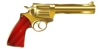χρυσό πυροβόλο όπλο Στοκ εικόνα με δικαίωμα ελεύθερης χρήσης