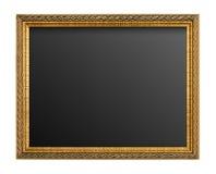 Χρυσό πλαίσιο εικόνων που απομονώνεται στοκ εικόνα