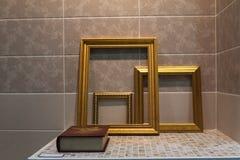 Χρυσό πλαίσιο 01 Στοκ Εικόνες