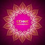 Χρυσό πλαίσιο Mandala Στοκ εικόνες με δικαίωμα ελεύθερης χρήσης