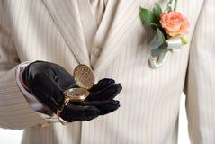 χρυσό ρολόι ατόμων Στοκ φωτογραφία με δικαίωμα ελεύθερης χρήσης