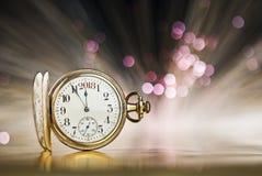 χρυσό ρολόι Στοκ Φωτογραφία