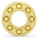 Χρυσό ρουλεμάν στο άσπρο υπόβαθρο Στοκ Φωτογραφία