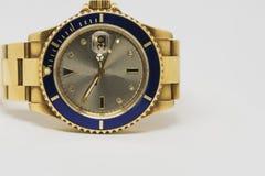 Χρυσό ρολόι πολυτέλειας Στοκ Φωτογραφίες