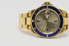Χρυσό ρολόι πολυτέλειας Στοκ φωτογραφία με δικαίωμα ελεύθερης χρήσης