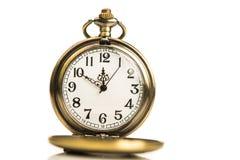 Χρυσό ρολόι χρονομέτρων με διακόπτη Στοκ φωτογραφία με δικαίωμα ελεύθερης χρήσης