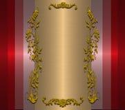 χρυσό ρόδινο κόκκινο τελών Στοκ Εικόνες