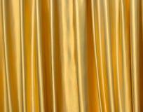 χρυσό σατέν υφάσματος Στοκ φωτογραφίες με δικαίωμα ελεύθερης χρήσης