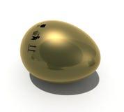 χρυσό σημάδι αυγών Στοκ Εικόνες