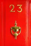χρυσό σημάδι πορτών 23 φλυτζ&alpha Στοκ φωτογραφία με δικαίωμα ελεύθερης χρήσης