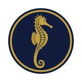 Χρυσό σημάδι Seahorse απεικόνιση αποθεμάτων