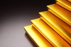 Χρυσό σκαλοπάτι ράβδων Στοκ Φωτογραφία