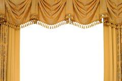 χρυσό στάδιο κουρτινών Στοκ φωτογραφία με δικαίωμα ελεύθερης χρήσης