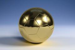 χρυσό στερεό ποδοσφαίρο&u Στοκ εικόνες με δικαίωμα ελεύθερης χρήσης