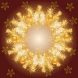 Χρυσό στεφάνι Χριστουγέννων Στοκ φωτογραφία με δικαίωμα ελεύθερης χρήσης