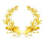 χρυσό στεφάνι Στοκ Φωτογραφία