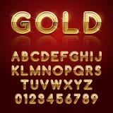 Χρυσό στιλπνό αλφάβητο Στοκ Εικόνες