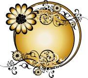 χρυσό στρογγυλό διάνυσμ&alph Στοκ φωτογραφία με δικαίωμα ελεύθερης χρήσης