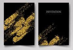 Χρυσό συρμένο σύσταση βουρτσών στοιχείο σχεδίου κτυπήματος διανυσματικό ελεύθερη απεικόνιση δικαιώματος