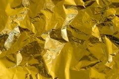Χρυσό σχέδιο σύστασης φύλλων αλουμινίου στοκ εικόνα με δικαίωμα ελεύθερης χρήσης
