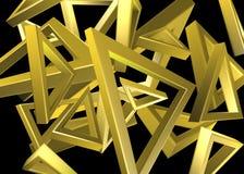 Χρυσό σχέδιο τριγώνων Στοκ Φωτογραφίες