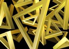 Χρυσό σχέδιο τριγώνων Στοκ φωτογραφία με δικαίωμα ελεύθερης χρήσης