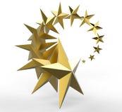 Χρυσό σχέδιο αστεριών Στοκ Φωτογραφίες