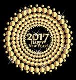 Χρυσό σχέδιο καλής χρονιάς 2017 Στοκ εικόνες με δικαίωμα ελεύθερης χρήσης