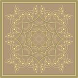 Χρυσό σχέδιο σε ένα υπόβαθρο χαλκού στοκ φωτογραφία με δικαίωμα ελεύθερης χρήσης