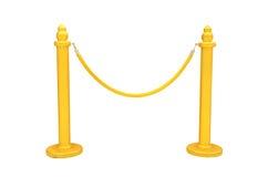χρυσό σχοινί εμποδίων Στοκ εικόνα με δικαίωμα ελεύθερης χρήσης