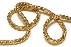 χρυσό σχοινί Στοκ Φωτογραφία