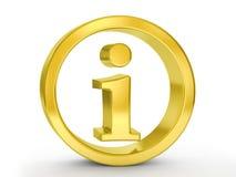 Χρυσό σύμβολο πληροφοριών απεικόνιση αποθεμάτων