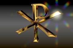 χρυσό σύμβολο pax christi Στοκ εικόνες με δικαίωμα ελεύθερης χρήσης