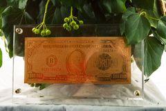χρυσό σύμβολο δολαρίων Στοκ φωτογραφία με δικαίωμα ελεύθερης χρήσης