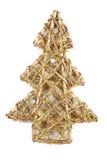 Χρυσό σύμβολο χριστουγεννιάτικων δέντρων Στοκ Εικόνες